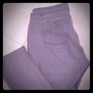 Grey Stretch Casual Pant